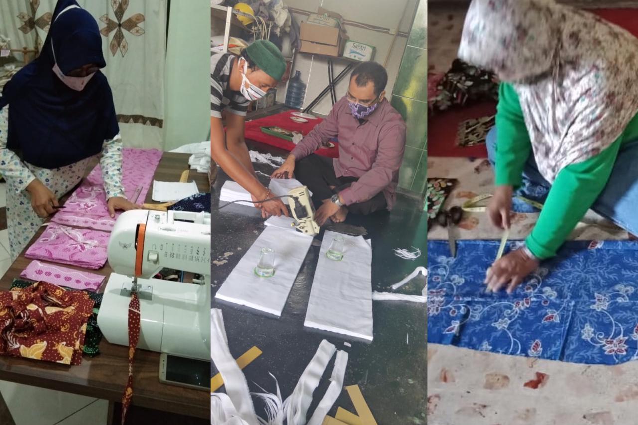 Melawan COVID-19 dengan Masker Batik dari Jawa Timur